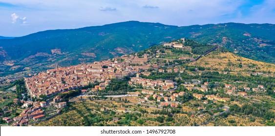 Cortona, historic town in Tuscany Italy