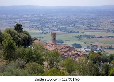 Cortona, Tuscany, Italy 23/02/2019. Cortona is Unesco heritage.