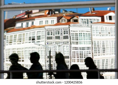 Coruna reflection of  glass houses , Spain , Europe