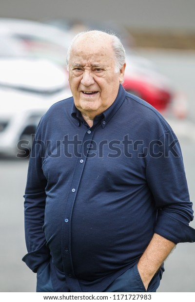 A CORUNA, SPAIN - JULY 21:Portrait of Amancio Ortega , founder of Inditex  on July 21, 2018 in A Coruna, Spain