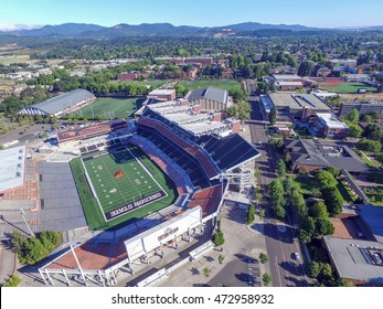 Corvallis, OR, USA - August 21, 2016: Oregon State University Reser Stadium is home to the PAC 12 conference OSU Beavers football team.