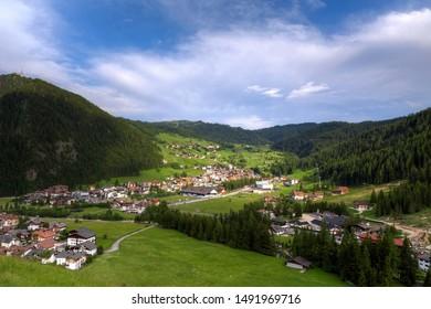 Corvara in Badia, Alta Badia, Dolomites, Italy in summer
