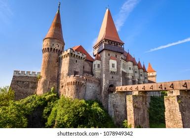 Corvin Castle, Hunedoara, Romania. The Corvin Castle or Hunyadi Castle or Hunedoara Castle in Hunedoara, Transylvania, Romania.