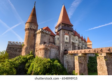 Corvin Castle, Hunedoara, Romania. The Corvin Castle or Hunyadi Castle is a Gothic-Renaissance castle in Hunedoara, Transylvania, Romania.