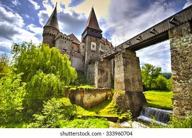 The Corvinesti castle also known as the Hunyad castle, is a Gothic-Renaissance castle in Hunedoara (Transylvania), Romania.