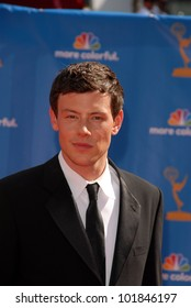 Cory Monteith at the 62nd Annual Primetime Emmy Awards, Nokia Theater, Los Angeles, CA. 08-29-10