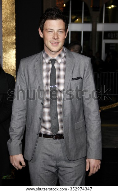 """Cory Monteith at the Los Angeles Premiere of """"New Year's Eve"""" held at the Grauman's Chinese Theater in Los Angeles, California, United States on December 5, 2011."""