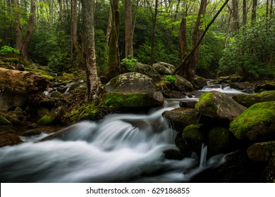 Cosby Creek in Gatlinburg, Tennessee on April 19, 2017.