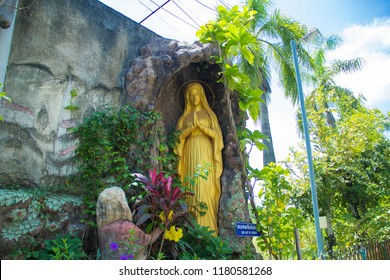 Cose up of Mari,Our of lady,Statue of Our Lady,Sculpture of Our Lady, Mari statue in the cave,