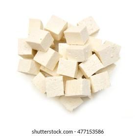 Coseup tofu isolated on white background