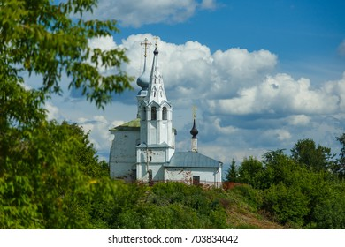 Cosmas and Damian Church with bell tower in Suzdal, Russia