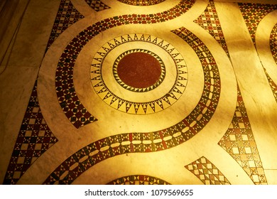 Cosmatesque decoration on the floor of a church