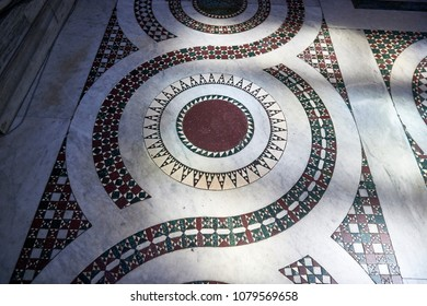 Cosmatesque decoration on the floor of a church