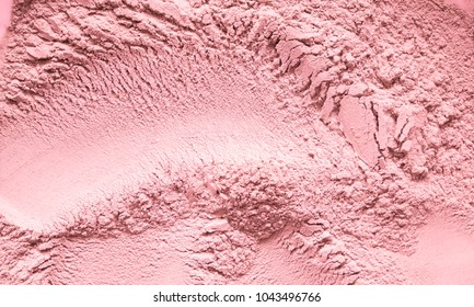Cosmetic background, clay texture. Mask red  dry clay for face and body