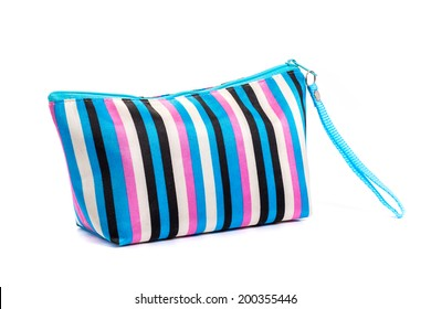 Cosmetic bag / studio photography of cosmetic bag - isolated on white background
