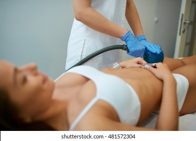 cosmetic beauty with deep oscillation device treatment  at spa clinic