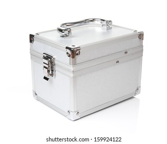 Cosmetic box on White background