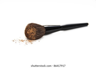 Cosmetic brush with make up