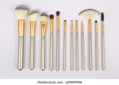 cosmetic brush in white background