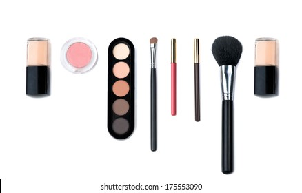 cosmetic and brushes for women