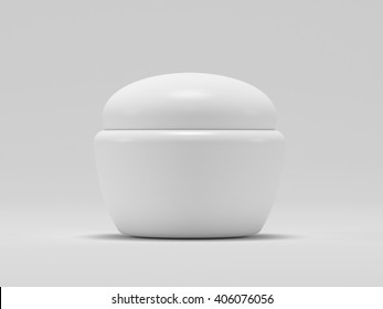 Cosmetic Container for Cream, Powder or Gel. 3d render. Mockup design