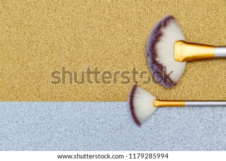 Cosmetic Makeup Brushes Professional Make Fan Stock Photo (Edit Now