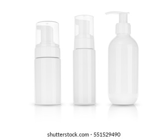 Cosmetic product  for cream, foam, shampoo. on  white background .