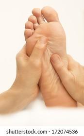cosmetics foot massage