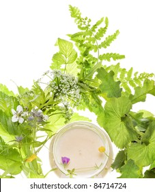 cosmetics and herb