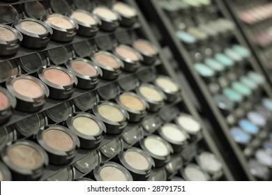 Cosmetics at the makeup counter