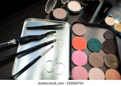 Cosmetics. Make-up tools.
