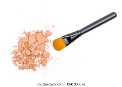 cosmetics on the white background