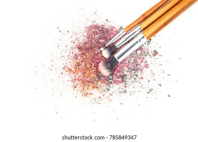 Cosmetics on a white background. Isolate. Selective focus.