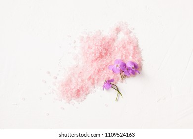 Cosmetics for Spa treatments at home on a white background. Copy space text