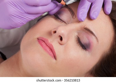 Cosmetologists' preparations for permanent eyebrow make up