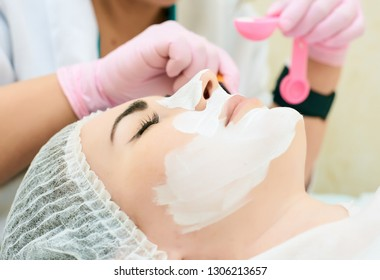 cosmetology room, treatment and skin cleansing with hardware, acne treatment, elimination of the causes of problem skin