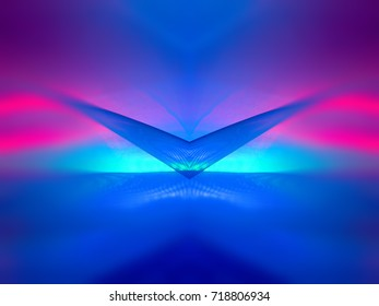 cosmic abstraction violet and blue
