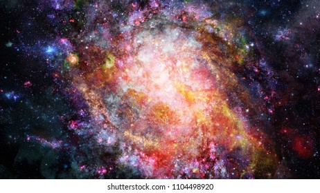 Cosmic art, science fiction wallpaper. Beauty of deep space. Elements of this image furnished by NASA.