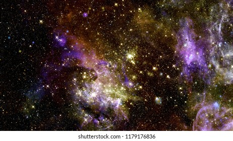 Cosmic galaxy background with nebula, stardust and bright shining stars. Elements of this image furnished by NASA.