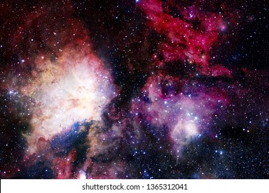 Cosmic landscape, awesome science fiction wallpaper with endless outer space. Elements of this image furnished by NASA