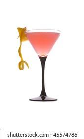 Cosmopolitan Cocktail on white ground
