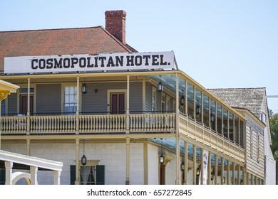 Cosmopolitan Hotel at San Diego Old Town Historic State Park - SAN DIEGO / CALIFORNIA - APRIL 21, 2017