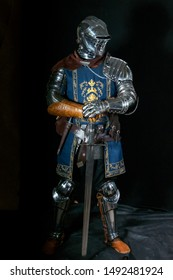 cosplay costume and armor of a knight from the popular game