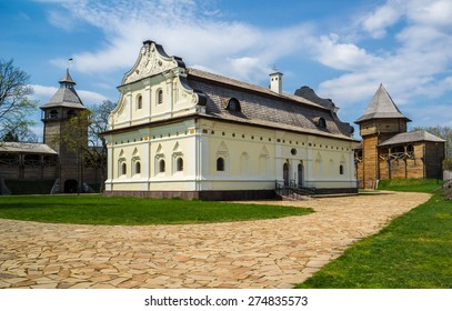 Cossack's treasury inside th Baturin Citadel.  Baturin, Ukraine.