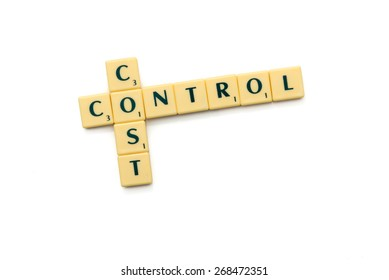 cost control crossword letters on the white background
