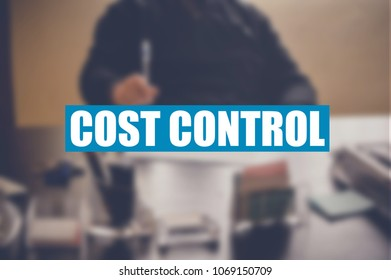 cost control word with business blurring background