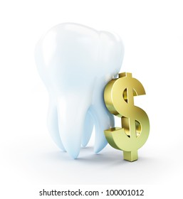 cost of dental treatment on a white background