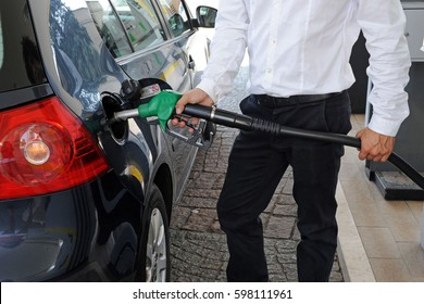 the cost of fuel increases - euro and gasoline - gas station - Diesel