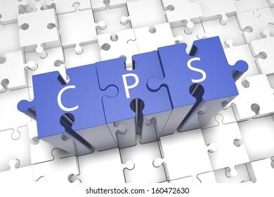 Cost per Sale - puzzle 3d render illustration
