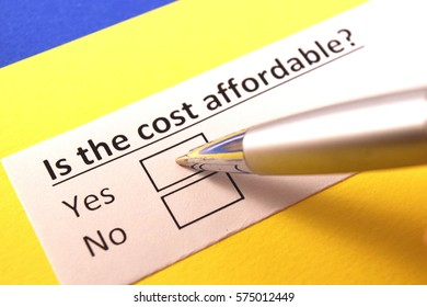 Is the cost affordable? yes or no